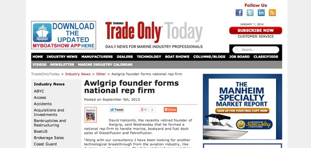 Awlgrip Founder Forms National Rep Firm